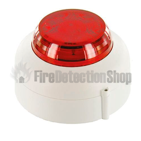 Cranford Controls VXB-1-SB-WB/RL Conv LED Beacon (White/Red Lens)